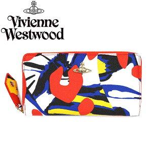 VivienneWestwoodヴィヴィアンウエストウッド長財布32742LOGOMANIAREDCREAM
