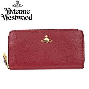 VivienneWestwoodヴィヴィアンウエストウッド長財布ラウンドファスナー5140SAFFIANORED760082
