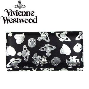 VivienneWestwoodヴィヴィアンウエストウッド長財布1032LOGOPRINTARGENTO