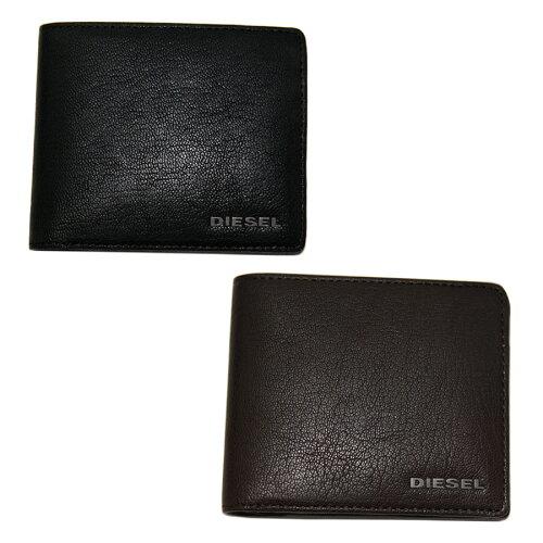 ディーゼル 財布 DIESEL 二つ折り財布 本革 革 レザー メンズ X03925 PR271 T8013 / ブラック T218...