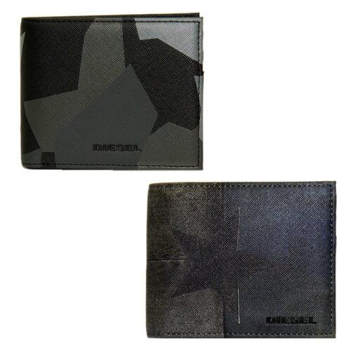 ディーゼル 財布 DIESEL 二つ折り財布 メンズ X03370 P0408 H6180/ブラック系 X03370 P0408 H6185/...