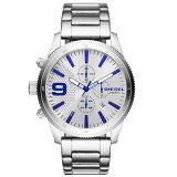 【送料無料】ディーゼル 時計 DIESEL 腕時計 DZ4452 メンズ RASP CHRONO ラスプ クロノグラフ シルバー×ブルー とけい ウォッチ 【あす楽対応】【RCP】【プレゼント】【ブランド】【セール】