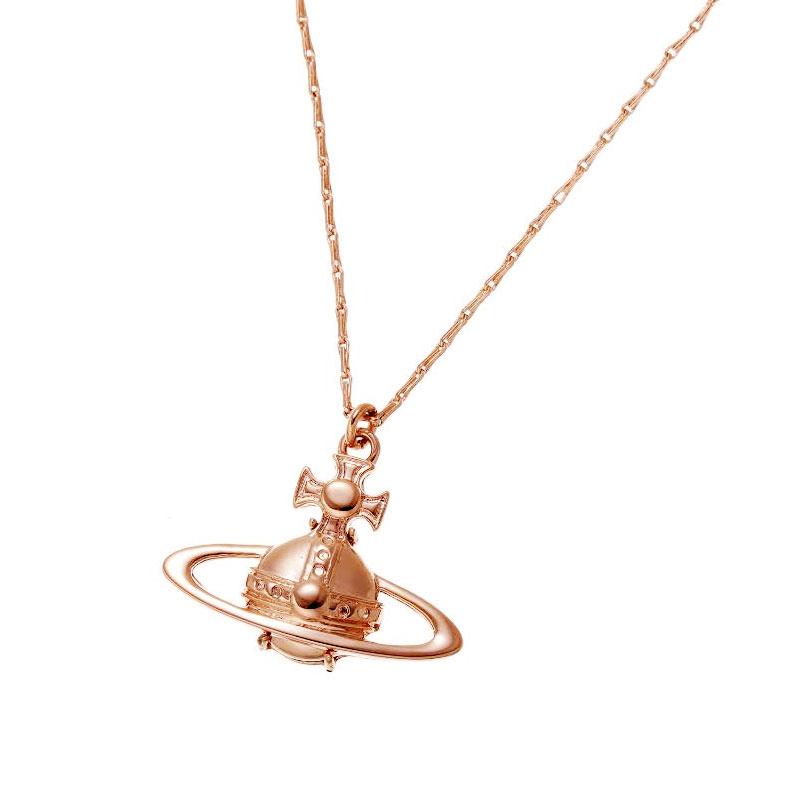 レディースジュエリー・アクセサリー, ネックレス・ペンダント  Vivienne Westwood SUZIE PENDANT PINK GOLD 63020023-G002 BPD990-4