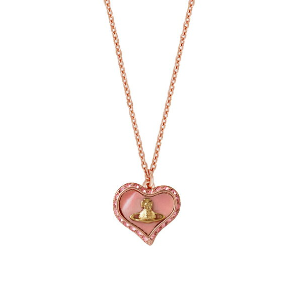 レディースジュエリー・アクセサリー, ネックレス・ペンダント  Vivienne Westwood 63020103-G208 PETRA PENDANT PINK GOLDGOLD Light Rose CORAL PEARL