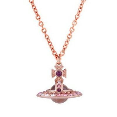 レディースジュエリー・アクセサリー, ネックレス・ペンダント  Vivienne Westwood CLARETTA ORB PENDANT PINK GOLD MULTIPINK Crystal 63020273-G172