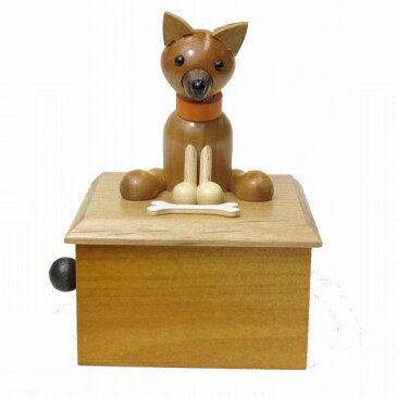 メロディードッグ・柴犬(18N標準)【18Nオルゴール/オルゴール曲選択/手作りオルゴール/犬/プレゼント/置物 】