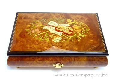 【国内送料無料・30Nタイプ既存曲リストからお好きな曲を選べます】EX141I イタリア象嵌BOX 【お好きな曲が選べます・送料無料】本場イタリアで作られた美しい象嵌BOXと手作りオルゴールを組み合わせます。