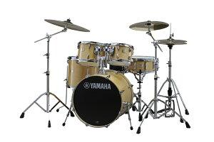 """YAMAHA ステージカスタムバーチ 20""""バスドラムスタンダードセット+ZBTシンバルセット+ドラムイスDS750 ナチュラルウッド"""
