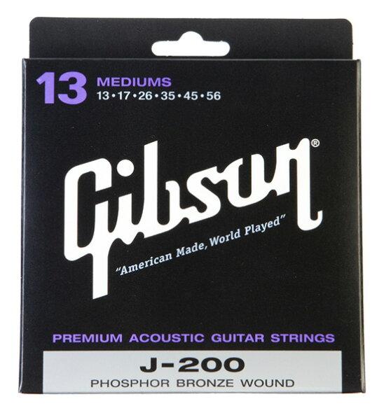 Gibson(ギブソン)SAG-J200フォークギター弦ミディアム3セット