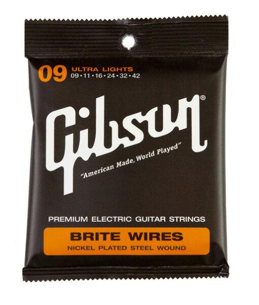 GibsonSEG-700ULウルトラライトを3setエレキギター弦