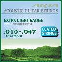 Aria AGS-200C/XL を 3set フォークギター コーティング弦