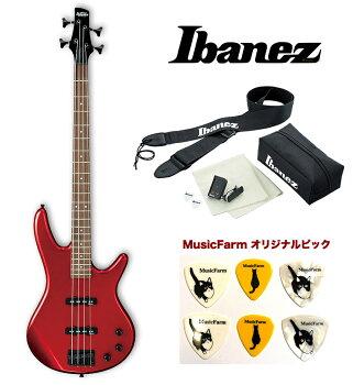Ibanez/GSR-320CA(CandyApple)アイバニーズエレキベースアクセサリーキット+オリジナルピックセット