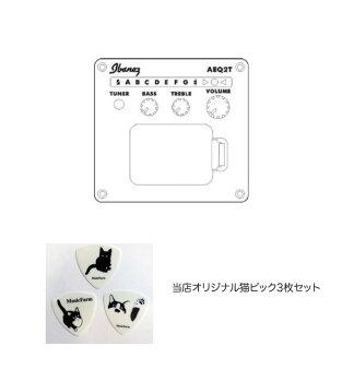 Ibanezグランド・コンサート・エレアコPC30CE-NTNaturalHigh-Gloss当店オリジナル猫ピック3枚セット