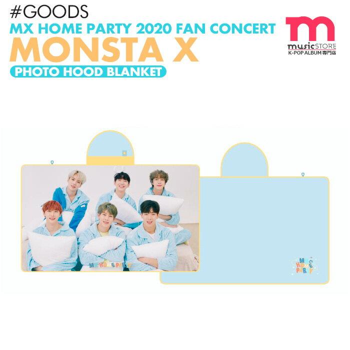 韓国(K-POP)・アジア, 韓国(K-POP) MONSTA X PHOTO HOOD BLANKET MX HOME PARTY 2020 FAN CONCERT