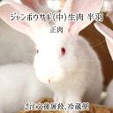 ジャンボウサギ 中 半羽 生肉(正肉 約650g) 秋田県大仙市産 むね/もも/うで/はら/腎臓 国産 兎 ラパン 送料無料