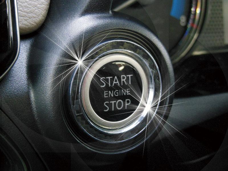 ニッサン DAYS デイズ H31.3〜専用 スタートボタンリング ブラックカーボン画像