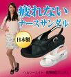 【ヘルシーエイト】歩行時の衝撃を和らげ足への負担を軽減するナースサンダル。オフィスシューズにもレディース靴 サンダル ブラック 黒 白 疲れない