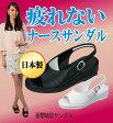 【衝撃吸収サンダル】クッション性の高い衝撃吸収材を使用。オフィスシューズにもレディース靴 サンダル ブラック 黒 白 疲れない ナースサンダル