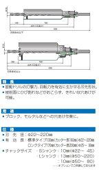 【振動用コアドリルセットSコア】22.0mmPCSW22(R)ミヤナガ