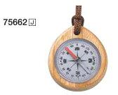 方向コンパス 木製 75662 J和文 シンワ測定