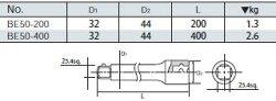 【ポイント2倍】25.4sq.エクステンションバー400mmBE50-400KTC(京都機械工具)