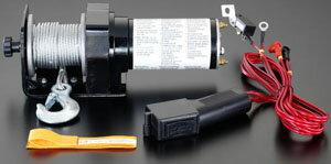 エスコ(ESCO) DC12V/675kg 直流電動ウインチ EA840D-32