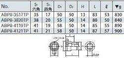 【25.4sq.】インパクトレンチ用ホイールナットコンビソケット(薄肉)ABP8-4121TPKTC(京都機械工具)