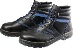 [[SL22BL-24.0(3043)]]安全靴編上靴SL22-BL黒/ブルー24.0cmSL22BL-24.0シモン(Simon)