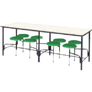 【直送】【代引不可】ニシキ工業 食堂テーブル 8人掛 グリーン STM2175GN