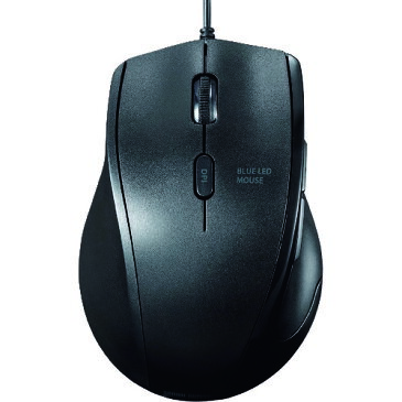 サンワサプライ 静音有線マウス左手用 MA-BL165BK