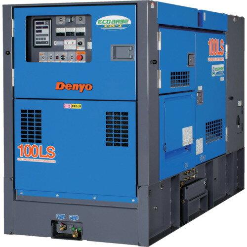 【直送】【代引不可】デンヨー 防音型ディーゼルエンジン発電機(エコベース) DCA-100LSIE