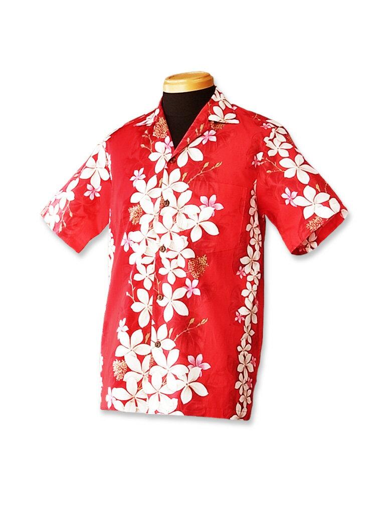 【レンタル】アロハシャツ Type A  2.プルメリア レッド