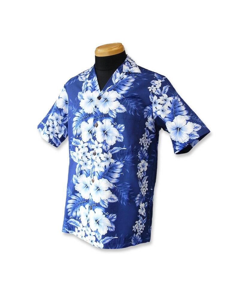 【レンタル】アロハシャツ Type A  【8】ネイビー