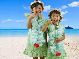 【ムームー】ハワイ・グアム・沖縄挙式、結婚式用キッズムームー(子供用ワンピース)【10.ミントグリーン】
