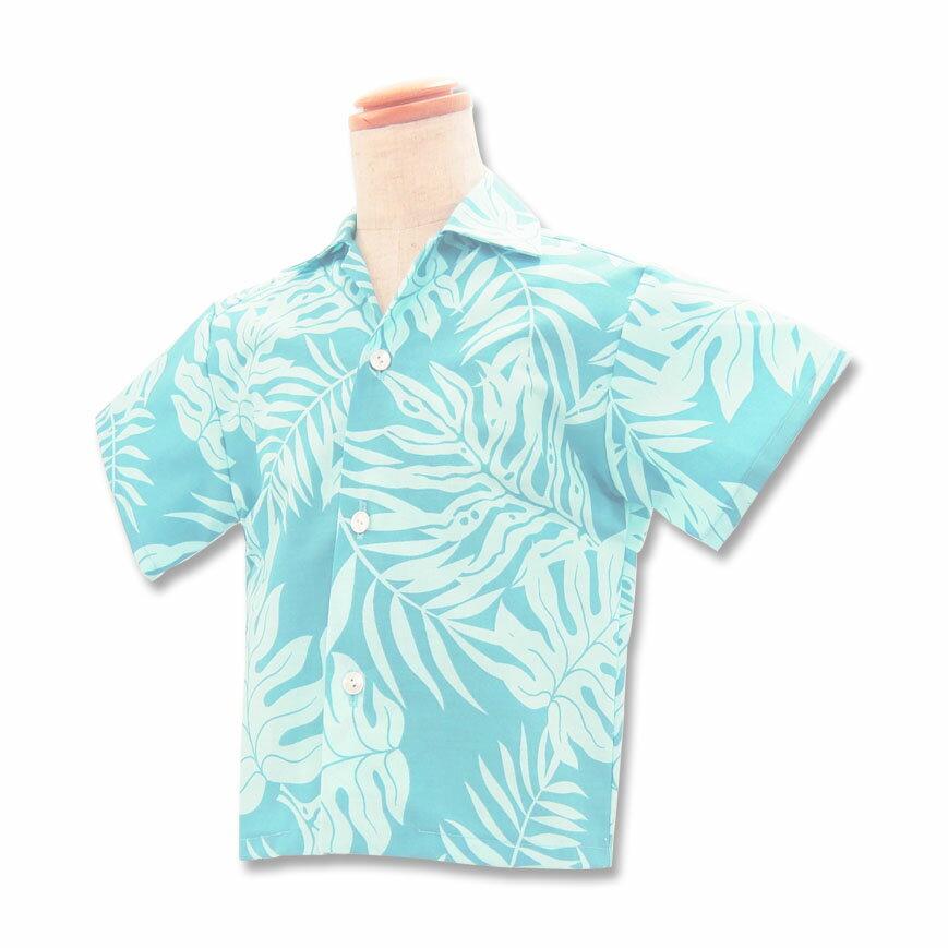 【レンタル】ハワイ・グアム・沖縄挙式、結婚式用 キッズ(子供用) アロハシャツ【11.ライトブルー】