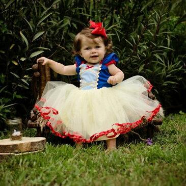 【即納】「メール便送料無料」ハロウィン ハロウィーン キッズ 子供 ベビー 赤ちゃん 衣装 仮装 スノーホワイト 風 白雪姫 風 ドレス プリンセス コスチューム コスプレ【05P03Dec16】