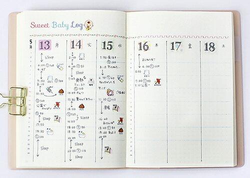 バレットジャーナルで活用できる、育児日記が作れるデコレーションシールです。