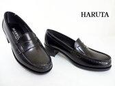 HARUTA(ハルタ)4603/黒 ブラック【ハルタ】【ローファー】レディースヒールローファー/通学靴/正規取扱店