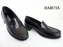 HARUTA(ハルタ)4603/黒ブラック【ローファー】レディースヒールローファー/通学靴/正規取扱店