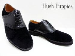 HushPuppies(ハッシュパピー)M-184FX/ブラック【送料無料】メンズコンフォートシューズ/サドルシューズ