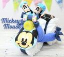 おむつケーキ ディズニー 男の子 女の子 ミッキー 名入れ 出産祝い 人気 キャラクター おしゃれ おむつバイク オムツケーキ オムツバイク 送料無料