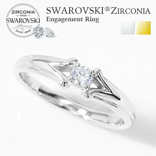 ブライダルジュエリー・アクセサリー, 婚約指輪・エンゲージリング  K18 MUZE JEWELRY SWAROVSKI made in japan