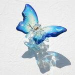 マコズアトリエ手描きバンスクリップ蝶月オリオン座と北斗七星ラインストーンヘアクリップVC85406BY