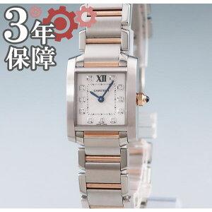 [4٪ خصم] كارتييه كارتييه تانك فرانسيز SM WE110004 كوارتز K18PGxSS صنع الماس الحقيقي السيدات ساعة اليد الذهب الوردي كومبي أنثى [مستعملة] [المنتج متوافق مع إيصال المتجر]