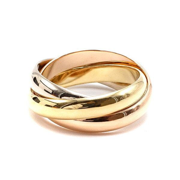 レディースジュエリー・アクセサリー, 指輪・リング  Cartier 3 K18WG K18YG K18PG 18 21.5 62