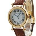 カルティエ Cartier ディアボロ W1507651 K18YG無垢 レディース 腕時計クオーツ ホワイト 【中古】【店頭受取対応商品】