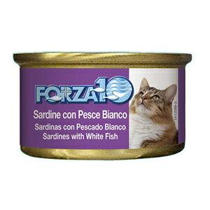 FORZA10 フォルツァディエチ CATメンテナンス缶 イワシ&白身魚 85g【92】【全国お任せ配送 他商品混載不可 送料込みの価格設定になっております】