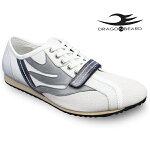 ドラゴンベアードスニーカーカジュアルシューズDRAGONBEARDDX-2301WHT/GRY/NVY靴