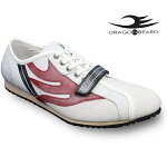ドラゴンベアードスニーカーカジュアルシューズDRAGONBEARDDX-2301WHT/RED/BLK靴