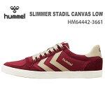 ヒュンメルスニーカーhummelSLIMMERSTADILCANVASLOWHM64442-3661CABERNET靴